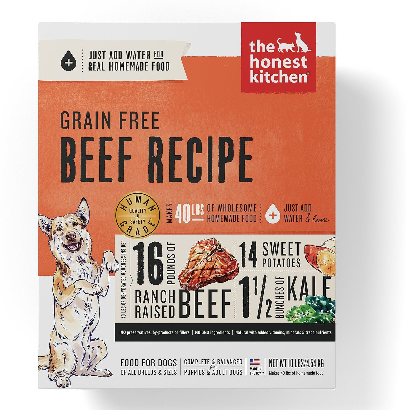 The Honest Kitchen Grain-Free Beef Recipe Dehydrated Dog Food
