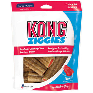 KONG Stuff'N Ziggies Teeth Cleaning Chew Dog Treats