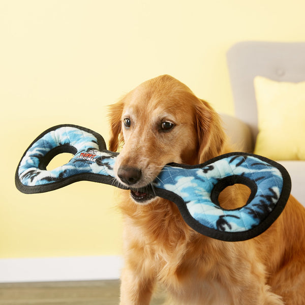 Tuffy Ultimate Tug-O-War Camo Blue Dog Toy