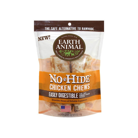 Earth Animal No-Hide Easily Digestible Rawhide Alternative Chicken Flavor Dog Chews