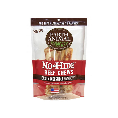 Earth Animal No-Hide Easily Digestible Rawhide Alternative Beef Flavor Dog Chews
