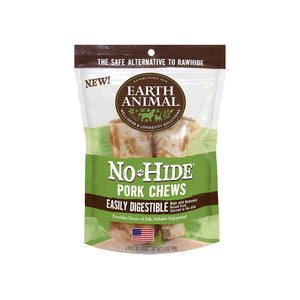 Earth Animal No-Hide Easily Digestible Rawhide Alternative Pork Flavor Dog Chews
