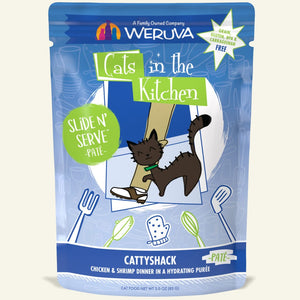 "Weruva ""Cattyshack"" Chicken and Shrimp Slide 'N Serve Pouch"