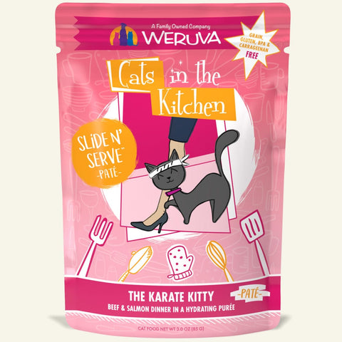 "Weruva ""The Karate Kitty"" Beef and Salmon Slide 'N Serve Pouch"
