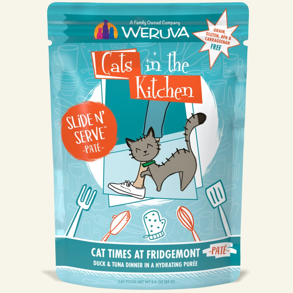 "Weruva ""Cat Times at Fridgemont"" Duck and Tuna Slide 'N Serve Pouch"