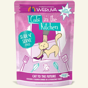 "Weruva ""Cat to the Future"" Chicken and Salmon Slide 'N Serve Pouch"