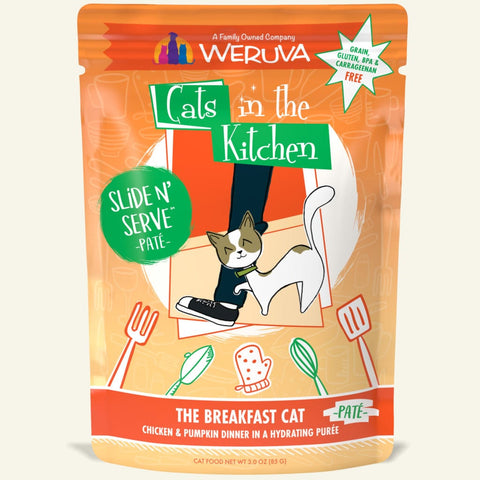 "Weruva ""The Breakfast Cat"" Chicken and Pumpkin Slide 'N Serve Pouch"