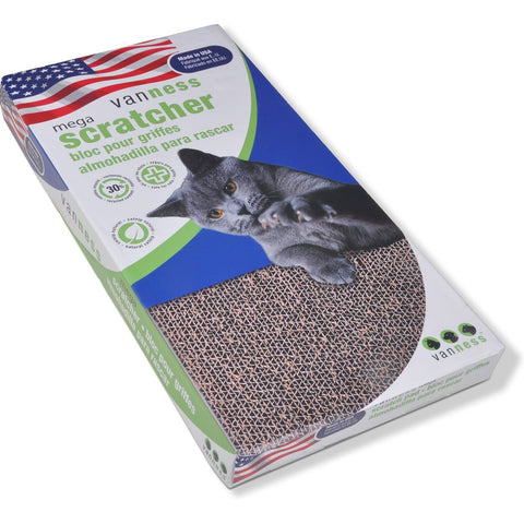 Van Ness Cat Scratcher Pad Toy with Catnip