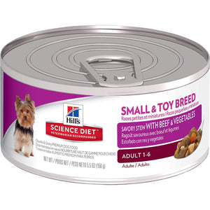Hill's Science Diet Adult Small & Toy Breed Savory Stew with Beef & Vegetables Canned Dog Food