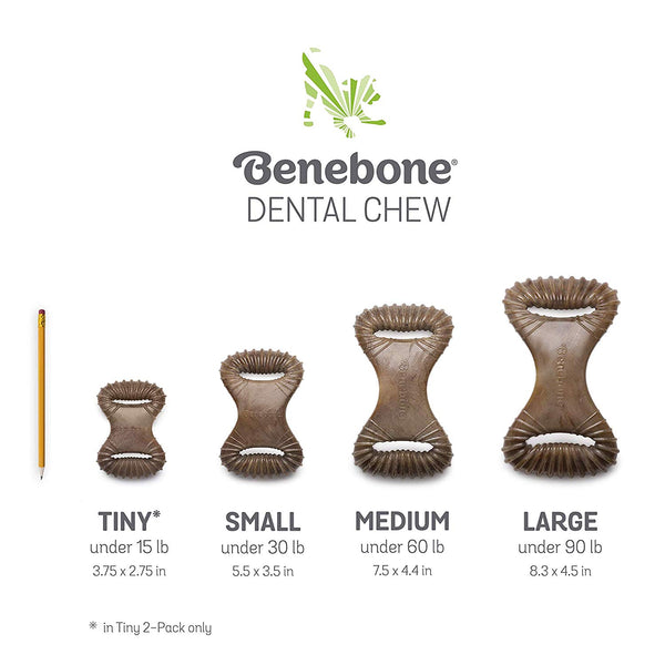 Benebone Dental Chew Bacon - Medium
