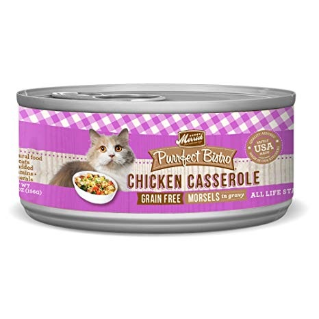 Merrick Purrfect Bistro Grain-Free Chicken Casserole Morsels in Gravy Canned Cat Food