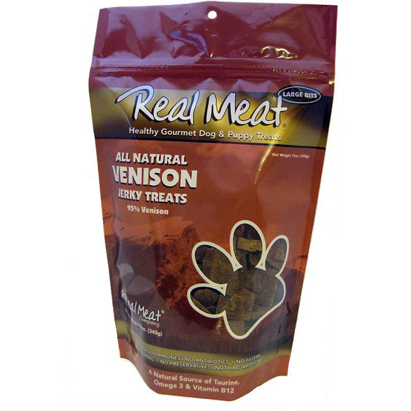 The Real Meat Company 95% Venison Jerky Bitz Dog Treats