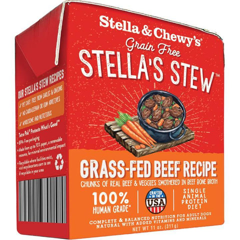 Stella & Chewy's Stella's Stew Grass-Fed Beef Wet Dog Food