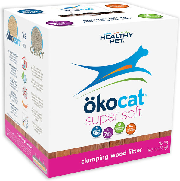 Okocat Super Soft Clumping Wood Cat Litter