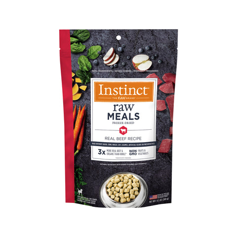 Instinct Raw Meals Grain-Free Real Beef Recipe Freeze-Dried Dog Food