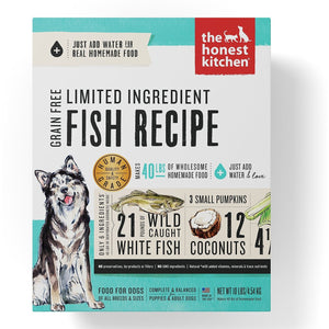 The Honest Kitchen Limited Ingredient Diet Fish Recipe Grain-Free Dehydrated Dog Food