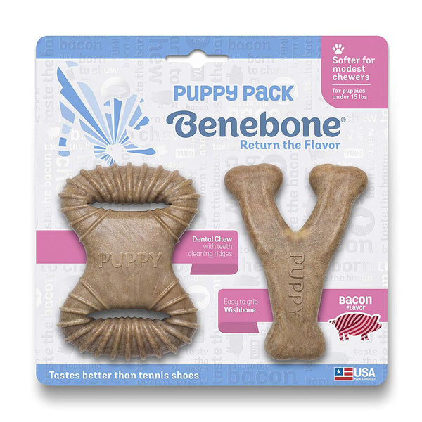 Benebone Puppy 2 Pack - Bacon