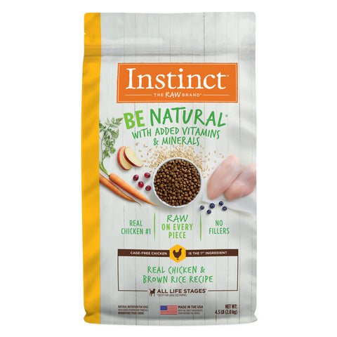 Instinct Be Natural Real Chicken & Brown Rice Recipe Freeze-Dried Raw Coated Dry Dog Food