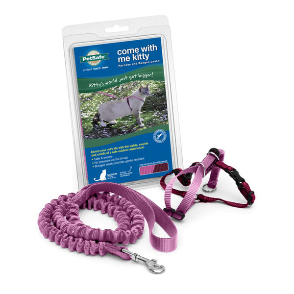 PetSafe® Come With Me Kitty™ Harness and Bungee Leash Dusty Rose