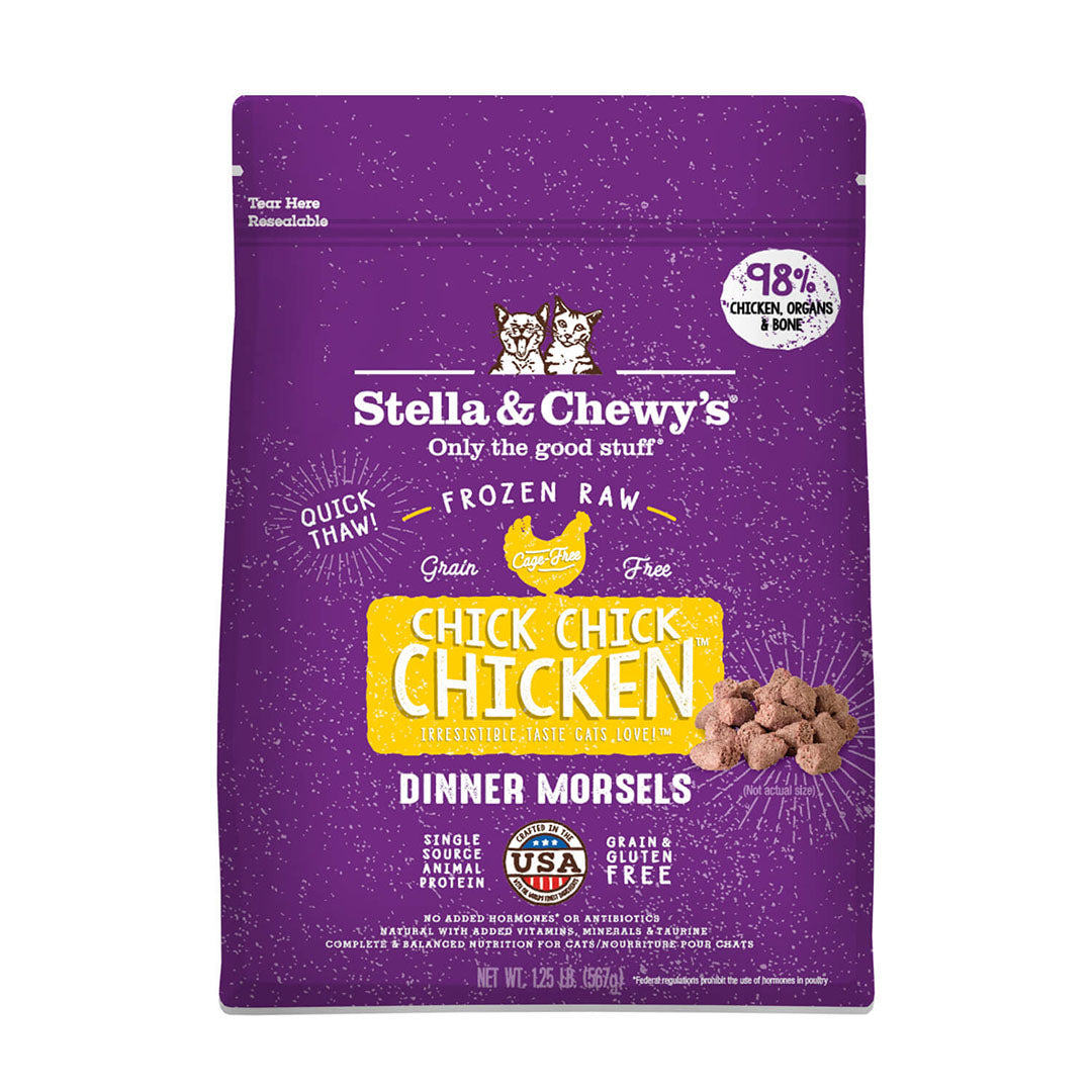 Stella & Chewy's Dinner Morsels Chick, Chick Chicken Frozen Cat Food