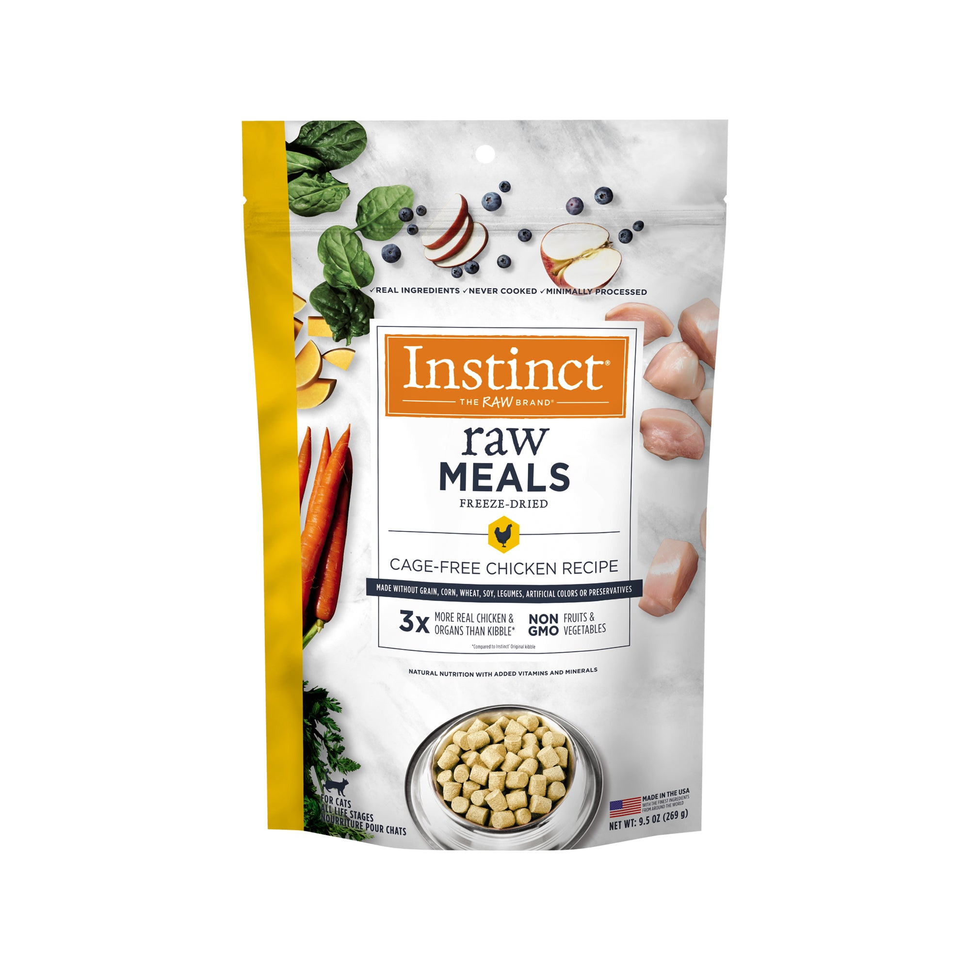 Instinct Raw Meals Grain-Free Cage-Free Chicken Recipe Freeze-Dried Cat Food