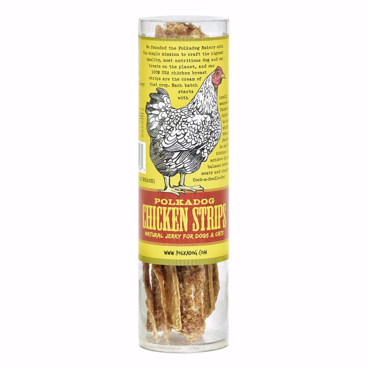Polka Dog Bakery Tube – Chicken Strip Jerky Dog Treats