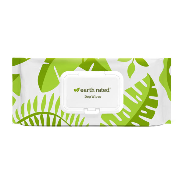 Earth Rated USDA Certified Compostable Biobased Grooming Wipes - Lavender Scented