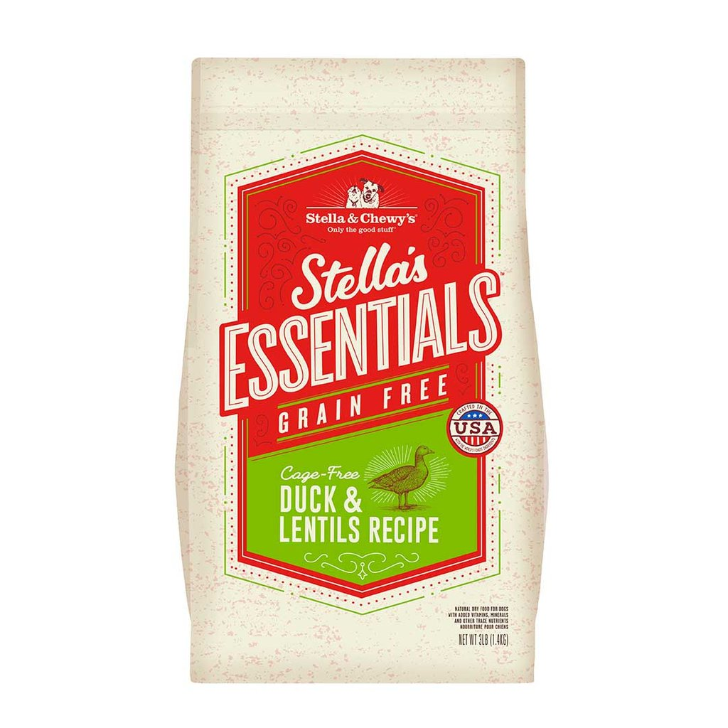 Stella & Chewy's Essentials Grain Free Cage-Free Duck & Lentils Dog Food