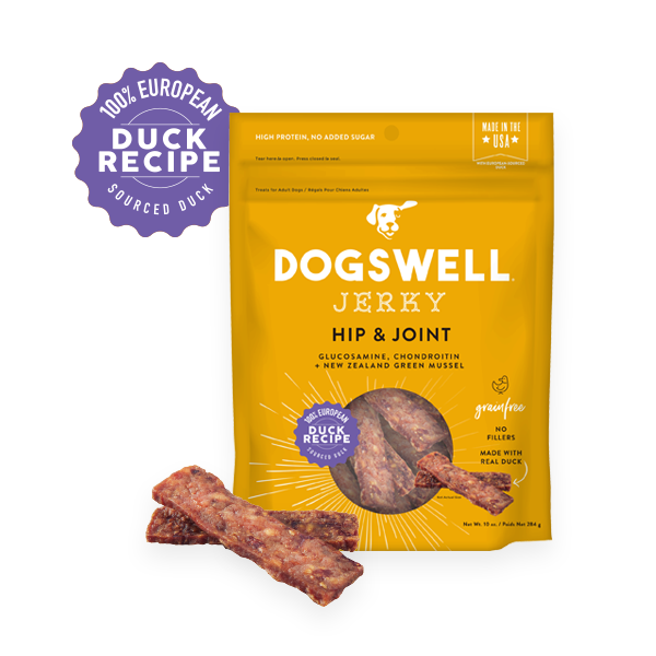 Dogswell Hip & Joint Duck Jerky Recipe Grain-Free Dog Treats