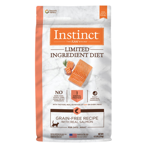 Instinct Limited Ingredient Diet Grain-Free Recipe with Real Salmon Freeze-Dried Raw Coated Dry Cat Food