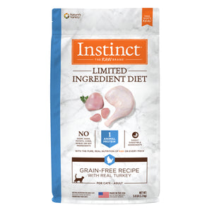 Instinct Limited Ingredient Diet Grain-Free Recipe with Real Turkey Freeze-Dried Raw Coated Dry Cat Food