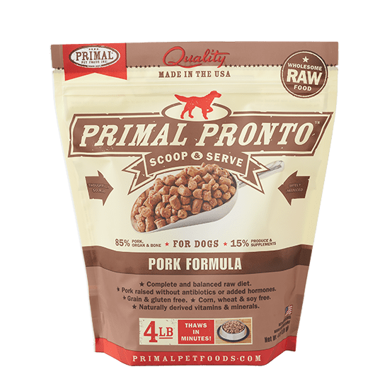 Primal Pronto Raw Pork Frozen Dog Food