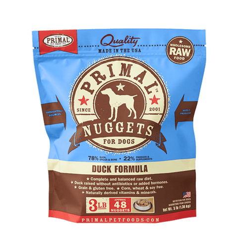 Primal Raw Frozen Canine Duck Formula Nuggets Dog Food