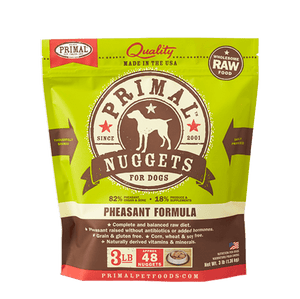 Primal Raw Frozen Canine Pheasant Formula Nuggets Dog Food