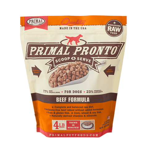 Primal Pronto Raw Beef Frozen Dog Food