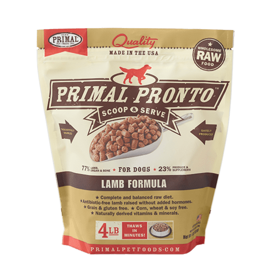 Primal Pronto Raw Lamb Frozen Dog Food