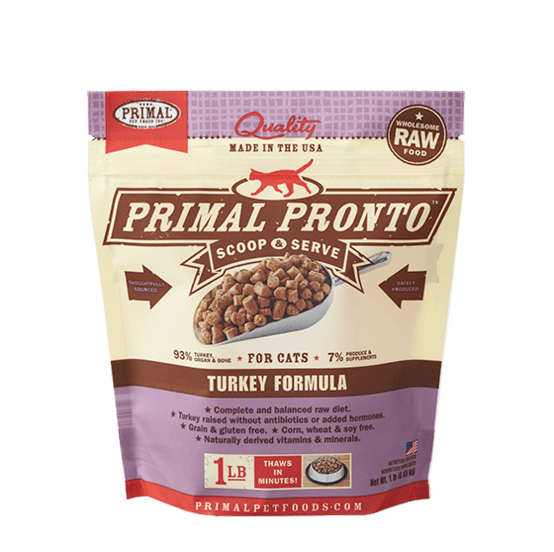Primal Pronto Raw Turkey Frozen Cat Food