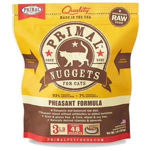 Primal Raw Frozen Feline Pheasant Formula Nuggets Cat Food