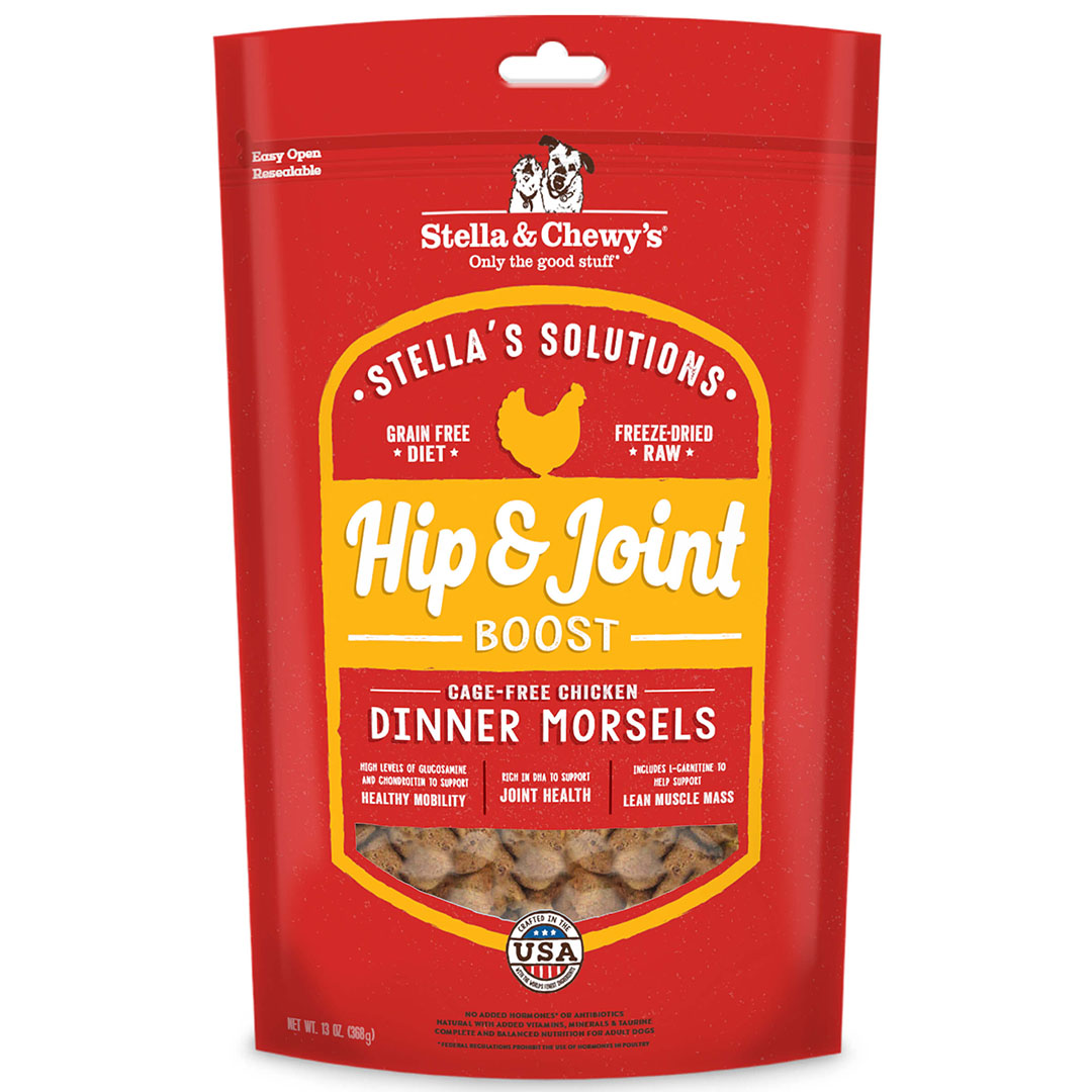 Stella & Chewy's Stella's Solutions Hip & Joint Boost Cage Free Chicken Freeze Dried Raw Dog Food