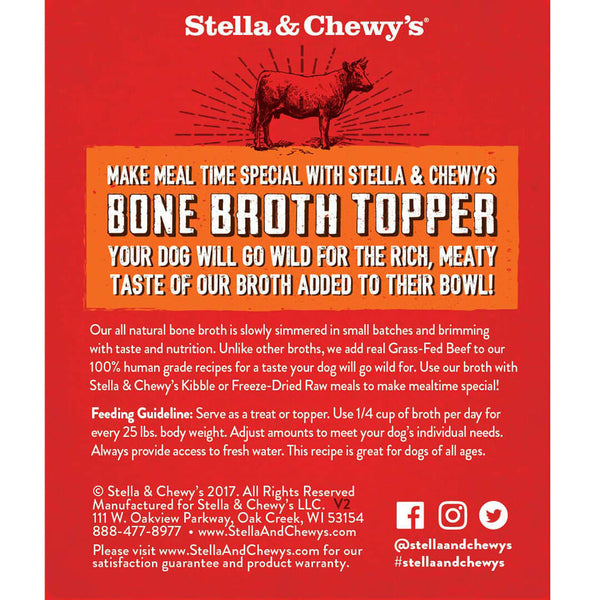 Stella & Chewy's Broth Food Topper Grass-Fed Beef Recipe