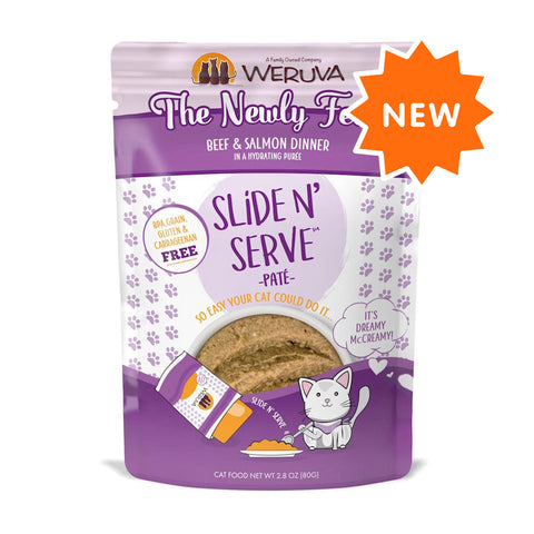 Weruva Slide N' Serve The Newly Feds Beef & Salmon Dinner Pate Grain-Free Cat Food Pouch