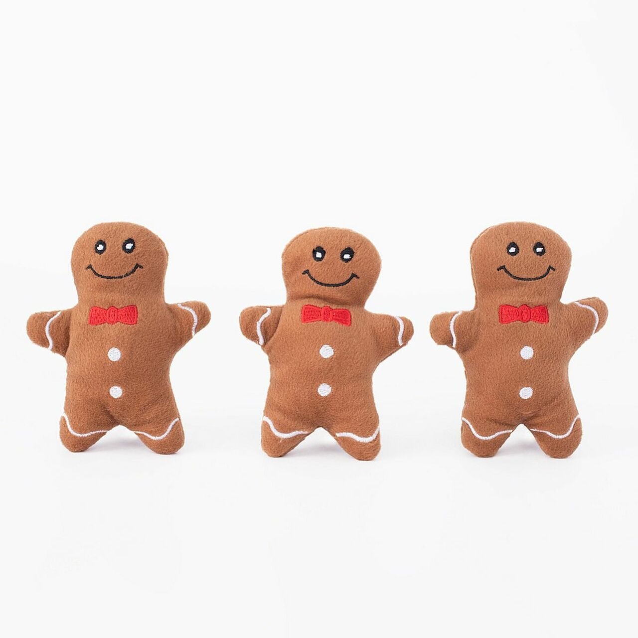 ZippyPaws Holiday Miniz 3-Pack - Gingerbread Men