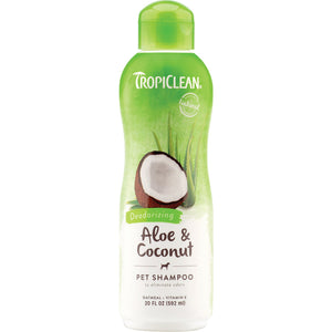 TropiClean Shampoo Aloe & Coconut Deodorizing Scent for Dog & Cat