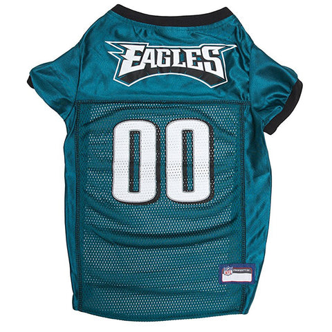 Pets First NFL Philadelphia Eagles Dog & Cat Mesh Jersey in Midnight Green