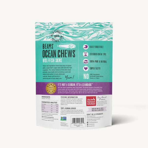 The Honest Kitchen BEAMS Ocean Chews Wolffish Skins Dog Treats