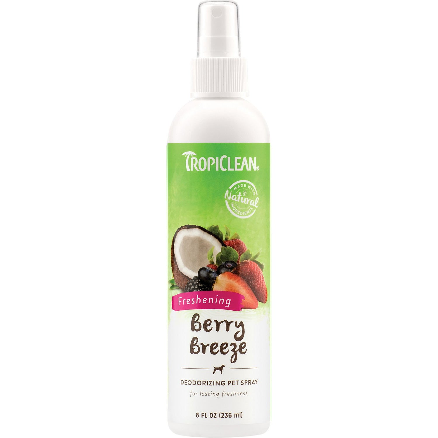 TropiClean Deodorizing Berry Breeze Scent Dog & Cat Cologne Spray