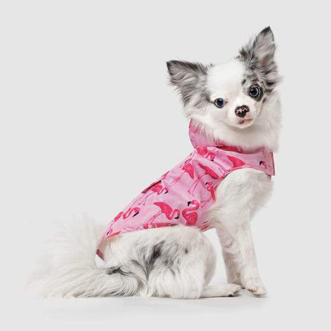 Canada Pooch Pick Me Poncho in Pink Flamingo