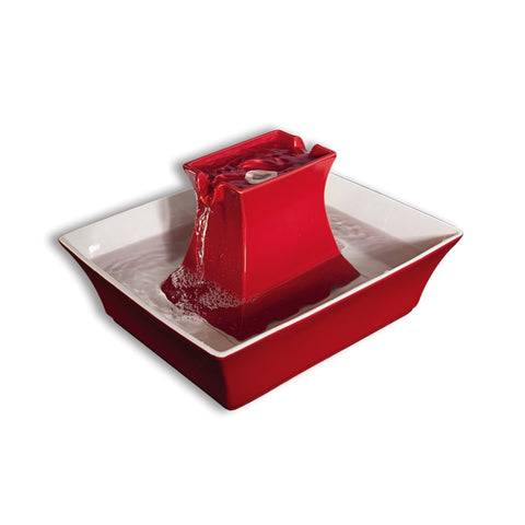 PetSafe® Drinkwell® Ceramic Pagoda Pet Fountain Red