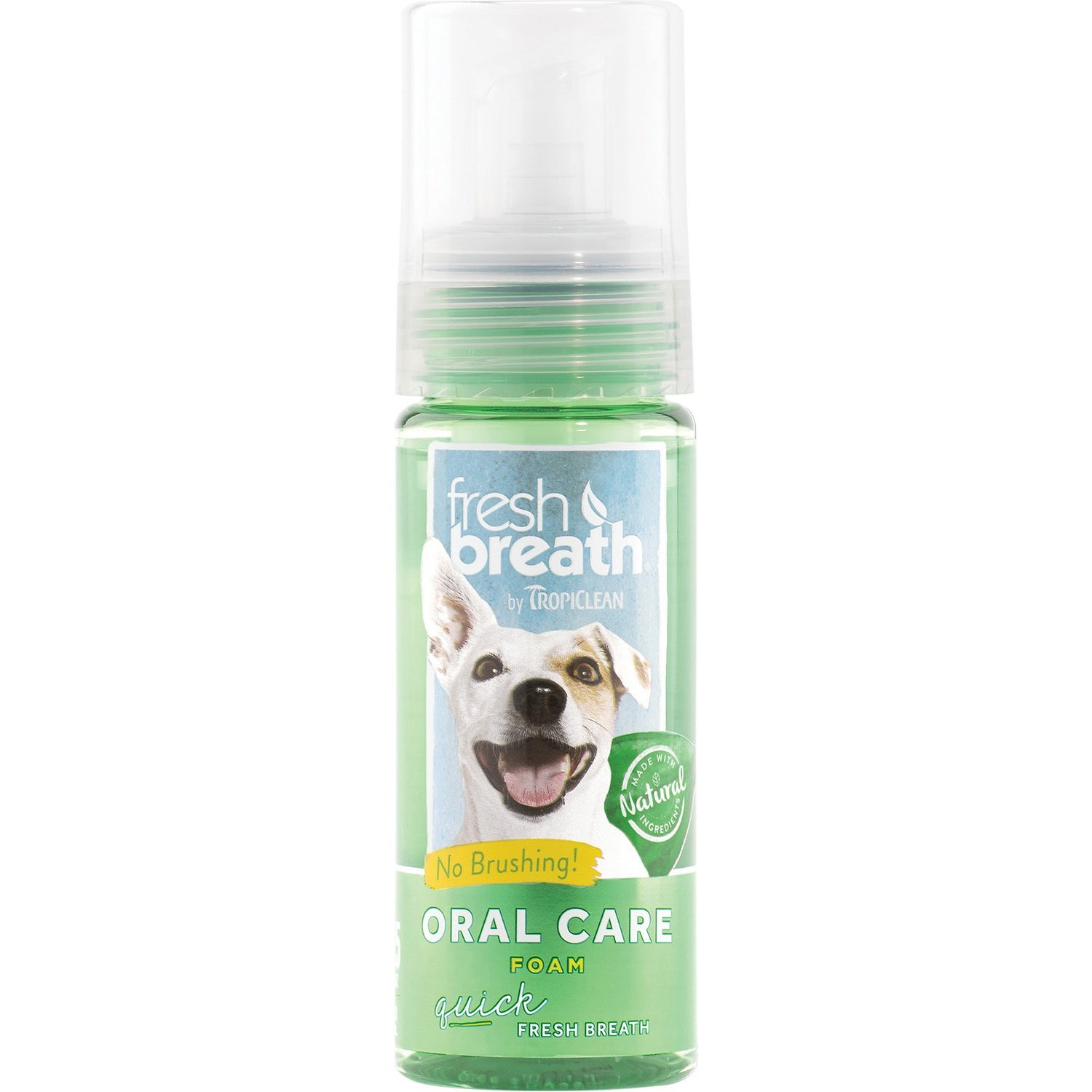 TropiClean Fresh Breath Mint Foam for Dogs & Cats