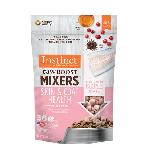 Instinct Raw Boost Mixers Grain-Free Skin & Coat Health Recipe Freeze-Dried Cat Food